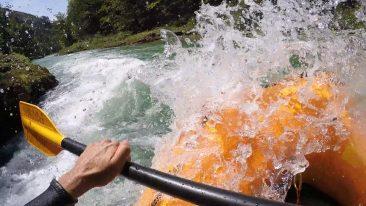 rakouske alpy salza voda kayak