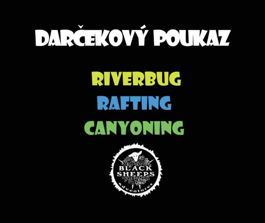darčekový poukaz riverbug rafting canyoning